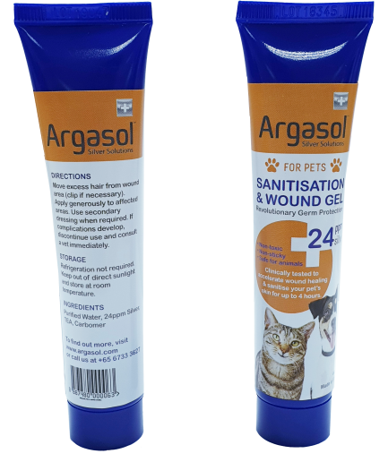Argasol Pets Silver Wound and Sanitization Gel, 24PPM (44ml)
